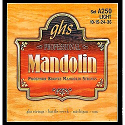 GHS Phosphor Bronze Mandolin Strings Light (A250)