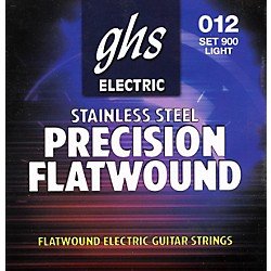 GHS Precision Flatwound Electric Guitar Strings Light (900)