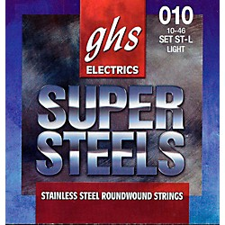 GHS ST-L Super Steels Roundwound Light Electric Guitar Strings (ST-L)
