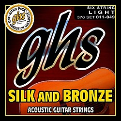 GHS Silk and Bronze Acoustic Guitar Strings Regular (370)
