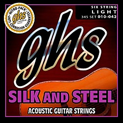 GHS Silk and Steel Acoustic Guitar Strings Light (345)