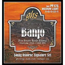 GHS Sonny Osborne Signature Banjo Strings Medium Light (PF175)