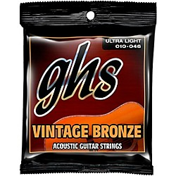 GHS Vintage Bronze 85/15 Acoustic Strings Ultra Light (VN-UL)