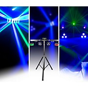 CHAUVET DJ GIGBAR 2 4-in-1 LED Lighting System with 2 LED Derbys, LED Wash Light, Laser, and 4 LED Strobe Lights