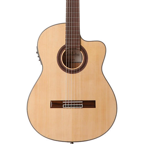 Cordoba GK Studio Acoustic-Electric Nylon String Flamenco Guitar Natural-thumbnail