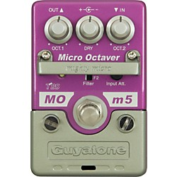 GUYATONE Mighty Micro Series MOm5 Micro Octaver Octave Guitar Effects Pedal (MOm5)