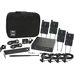 Galaxy Audio AS-1800-4 Band Pack Wireless System (AS-1800-4B3)