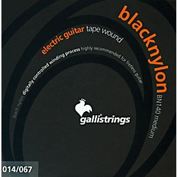 Galli Strings BN140 BLACK NYLON TAPE WOUND Medium Electric Guitar Strings 14-67 (BN140)
