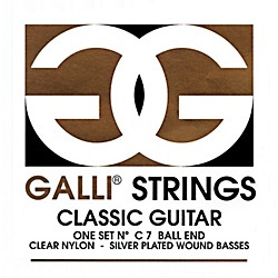Galli Strings C007 Ball End Nylon Normal Tension Classical Acoustic Guitar Strings (C007)