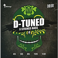 Galli Strings DB5R D-TUNED 5-String Bass Strings 45-130 (DB5R)