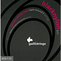 Galli Strings G77 BLACK NYLON TAPE WOUND Acoustic Bass Strings 55-115 (G77)