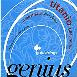 Galli Strings GR45 Genius Titanio  Nylon Coated Silverplated Normal Tension Classical Acoustic Guitar Strings (GR45)