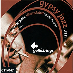 Galli Strings GSB11 GYPSY JAZZ Silver Plated Round Wound Medium Acoustic Guitar Strings (GSB11)