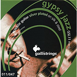 Galli Strings GSL11 GYPSY JAZZ Silver Plated Silk And Steel Medium Acoustic Guitar Strings (GSL11)