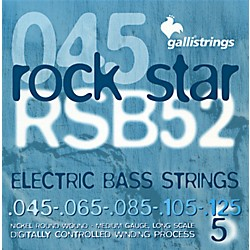 Galli Strings RSB52 ROCKSTAR 5-String Medium Bass Strings 45-125 (RSB52)
