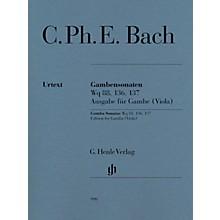 G. Henle Verlag Gamba Sonatas, Wq 88, 136, 137 by Carl Philipp Emanuel Bach Edited by Ernst-Günter Heinemann