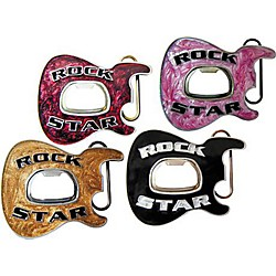 Gear One Rock Star Guitar Belt Buckle with Bottle Opener (K259BE)