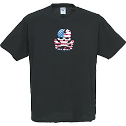 Gear One USA Skull T-Shirt (FU28-BLACK XL)