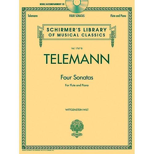G. Schirmer Georg Phillip Telemann - Four Sonatas For Flute And Piano Book/CD-thumbnail