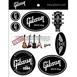 Gibson Logo Vinyl Stickers - Set of 12 (G-STICKER1)