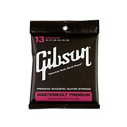 Gibson Masterbuilt Premium 80/20 Bronze Medium Acoustic Guitar Strings (SAG-BRS13)