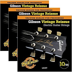 Gibson Vintage Reissue 3-Pack VR10 Electric Guitar Strings (KIT772664)