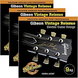Gibson Vintage Reissue 3-Pack VR9 Electric Guitar Strings (KIT772515)