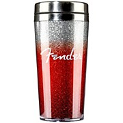 Fender Glitterburst Stainless Travel Mug - Red