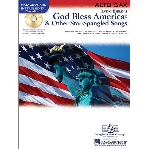 Hal Leonard God Bless America & Other Star-Spangled Songs for Alto Sax instrumental Play-Along Book/CD