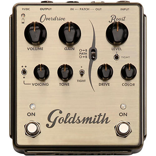 Egnater Goldsmith Overdrive/Boost Guitar Effects Pedal-thumbnail
