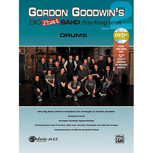 Alfred Gordon Goodwin's Big Phat Band Play-Along Series Drums Vol. 2 Book & DVDRom-thumbnail