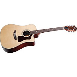 Guild D-40CE Standard Cutaway Acoustic-Electric Guitar (3855306821)