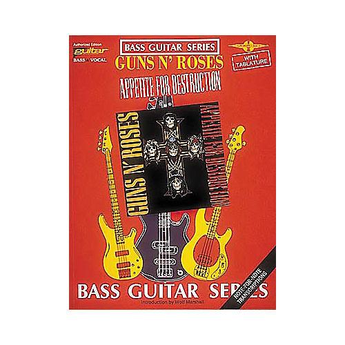 Cherry Lane Guns N' Roses Appetite for Destruction Bass Guitar Tab Songbook