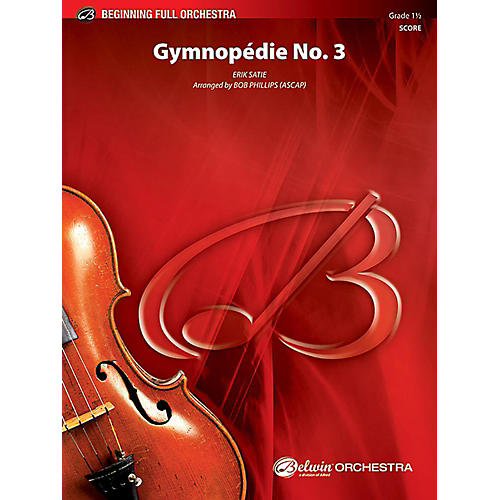 Alfred Gymnopdie No. 3 Full Orchestra Grade 1.5 Set-thumbnail