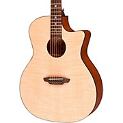 Luna Guitars Gypsy Flame Folk Acoustic Guitar