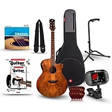 Luna Guitars Gypsy Spalt Grand Auditorium Acoustic-Electric Guitar Bundle