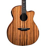 Luna Guitars Gypsy Zebra Grand Concert Acoustic-Electric Guitar