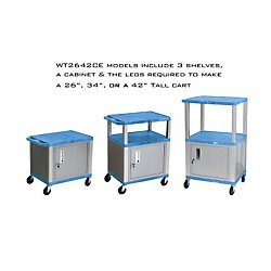H. Wilson Adjustable-Height Tuffy Cart with Lockable Cabinet (WT2642BUC4E-N)