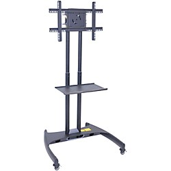 H. Wilson Luxor Adjustable Flat Panel Cart with Shelf (FP2500)