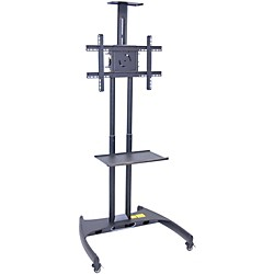 H. Wilson Luxor Adjustable Flat Panel Cart with Shelf and Camera Mount (FP2750)