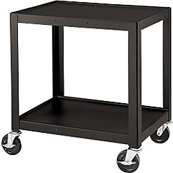 "H. Wilson Metal 26"" 2 Shelf Cart (W26E Black)"
