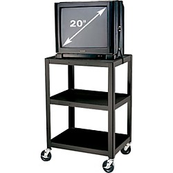 "H. Wilson Metal 34"" 3 Shelf Cart (W34E Black)"