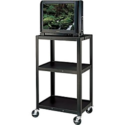 "H. Wilson Metal 42"" 3 Shelf Cart (W42E Black)"
