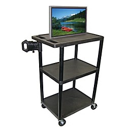 "H. Wilson Mobile Plasma/ LCD Cart (Up To 50"" Screen) (LE40CWTUD-B)"