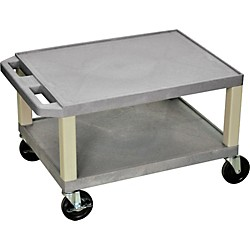 "H. Wilson Tuffy Plastic 16"" 2 Shelf Utility Cart (Wt16E Gray)"