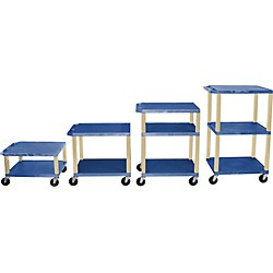 "H. Wilson Tuffy Plastic 16"" to 42"" 2 Shelf Cart (Wt1642E Blue)"