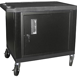 "H. Wilson Tuffy Plastic 26"" 2-Shelf Cart/Cabinet (Wt26C(2)E Black)"