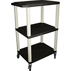"H. Wilson Tuffy Plastic 42"" 3 Shelf Utility Cart (Wt42E Black)"