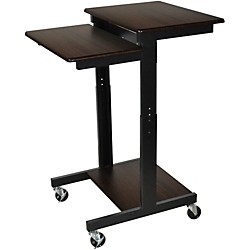 H. Wilson Walnut Mobile Adjustable Workstation (PS3945-W)