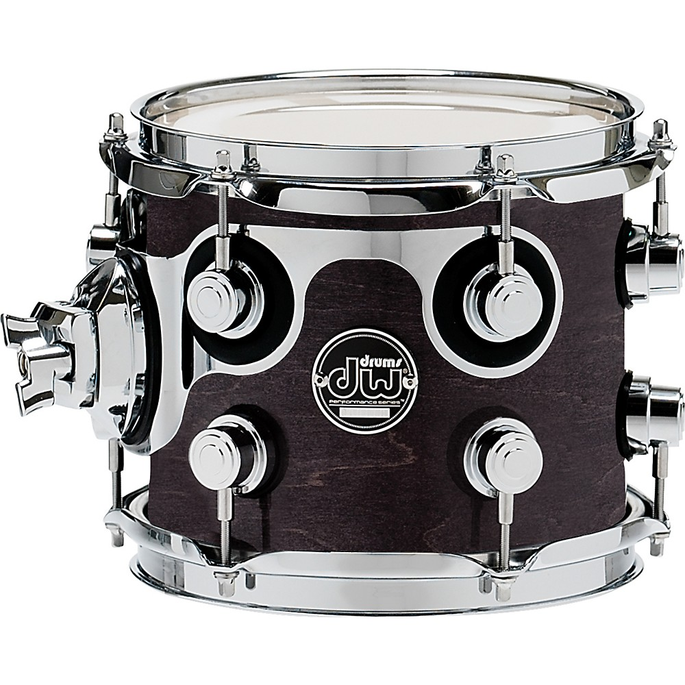 DW Performance Series Tom 7x8 Ebony Stain Lacquer